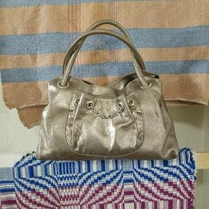 FURLA Platinum Leather Satchel/Shoulder Bag